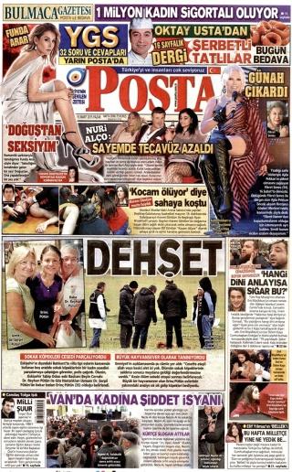 Figür 3: Posta (kağıt baskı), 15 Mart 2015